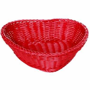 Rieten hartjes mand rood