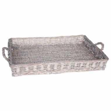 Rieten mand grey wash 59 cm