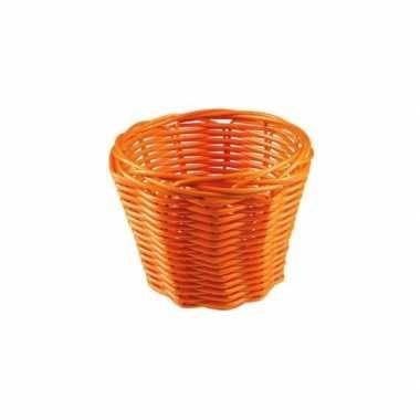 Rieten mandje oranje 14 cm