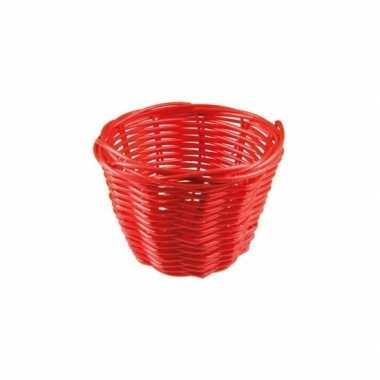 Rieten mandje rood 14 cm